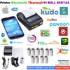 PAKET PRINTER BLUETOOTH PPOB KASIR 58MM THERMAL 11 ROLL