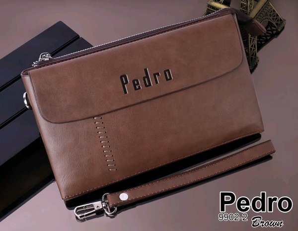 Tas Pria  Handbag PEDRO Branded Import Fashion Cowok Dompet Wallet Import New Arrival Hot Item Best Seller Batam Termurah