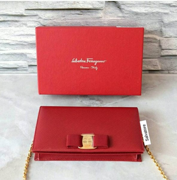 TAS SALVATORE FERRAGAMO MISS VARA MINI FLAP BAG OPERA RED ORIGINAL ASLI
