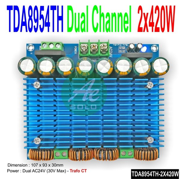 Class D Ultra Power Amplifier TDA8954TH 2X420W Audio Amplifier