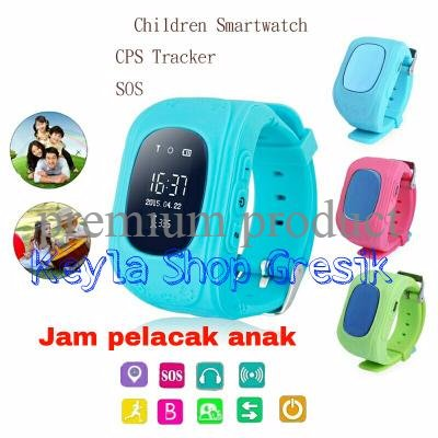 Wristwatch Top smartwatch for kids with GPS tracking SOS emergency slot SIM card GSM LCD display Jam tangan pintar Cerdas monitor pantau pelacak lokasi Anak balita remaja anti hilang setara I-one PINK HIJAU BIRU KEYLA SHOP GRESIK