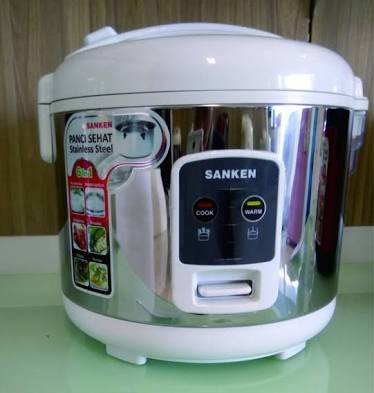 Sanken Magic com Rice cooker 1.8 liter Stainless  6 in 1 SJ 2200