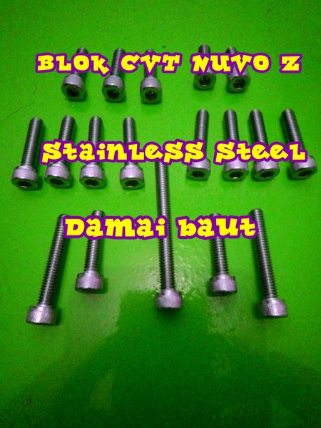 baut L stainless steel blok CVT NUVO Z