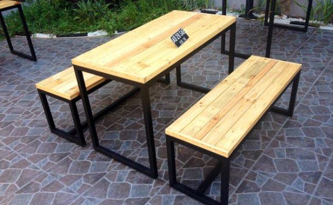 Jual Meja Dan Kursi Cafe Dari Kayu Pinus Jati Londo Di