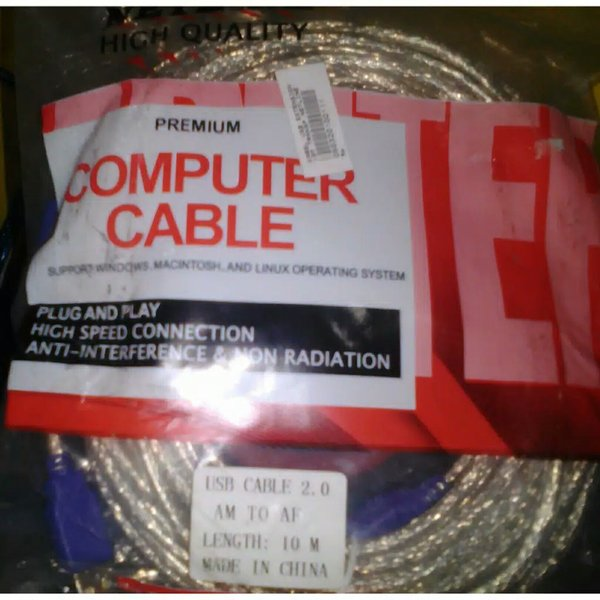 kabel perpanjangan usb 10 meter male to female merk  netline