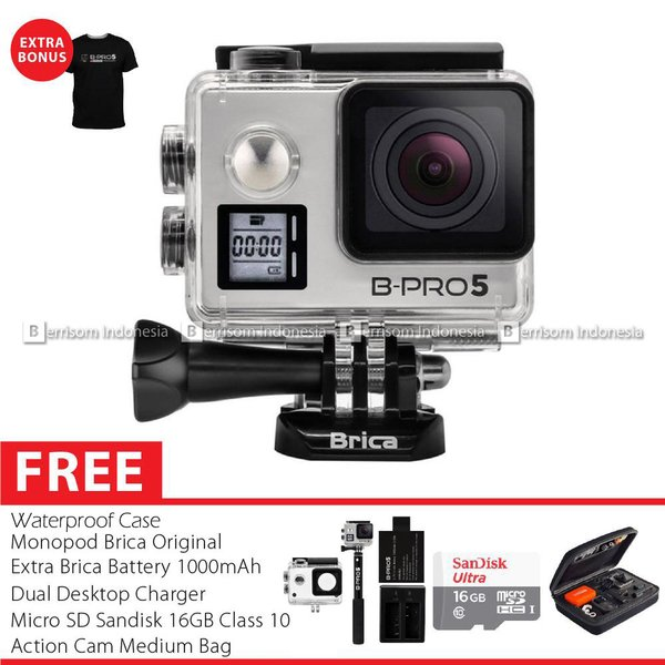 BRICA B-PRO 5 AE Mark IIs (AE2s) Full HD 4K Combo Brica Berrisom Action Camera - Silver