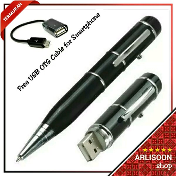 Multipurporse Ballpoint + Laser Pointer + Flashdisk 16GB - Free USB OTG Cable for Smartphone