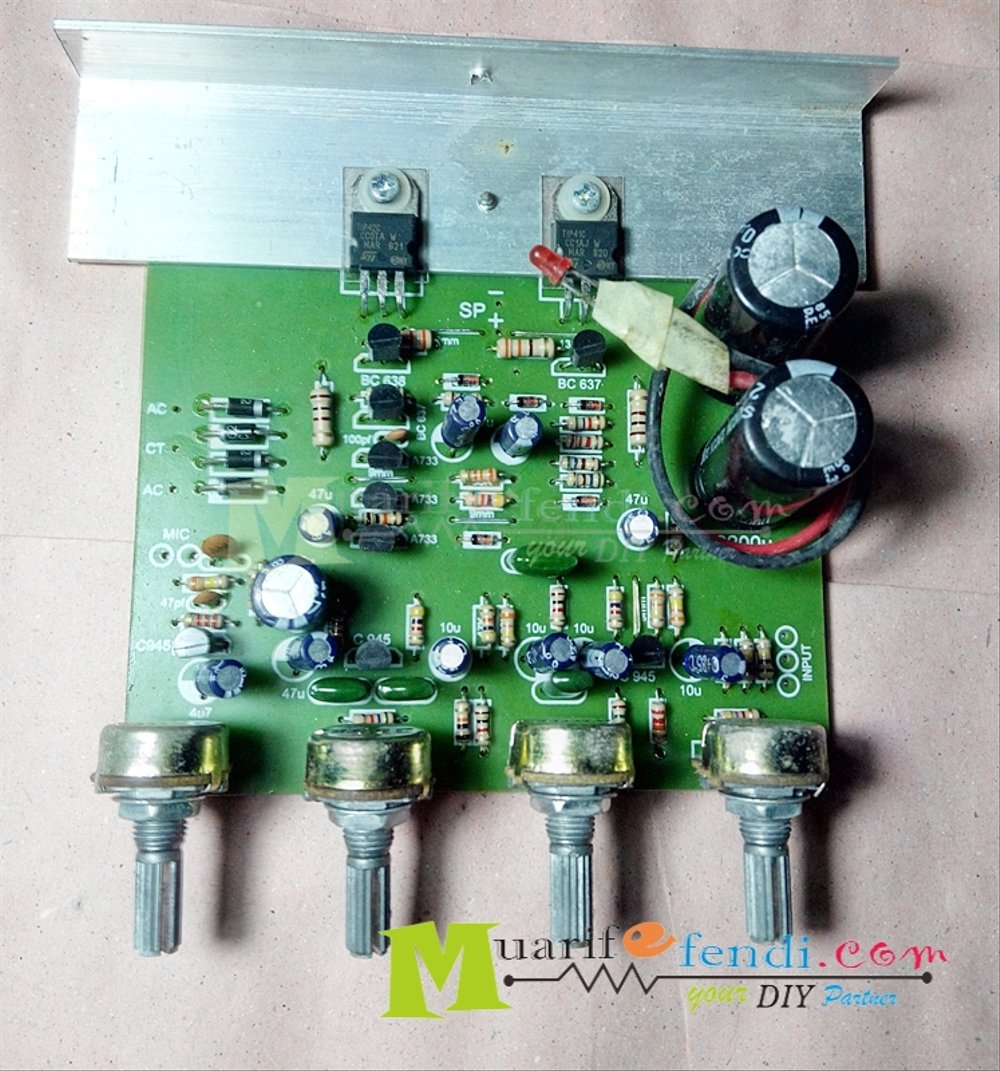 hight resolution of jual kit power amplifier 68watt plus tone control dan mic mono final tip41 tip42 di lapak muarif efendi arife