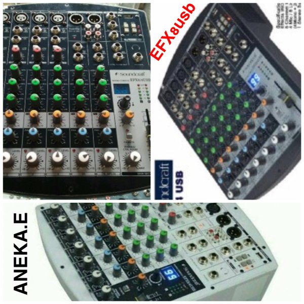 audio mixer Soundcraft efx8usb hitam