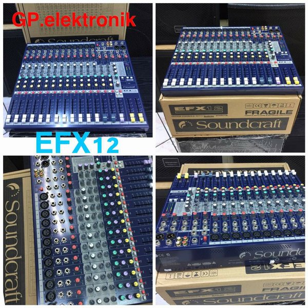 audio mixer soundcraft EFX12