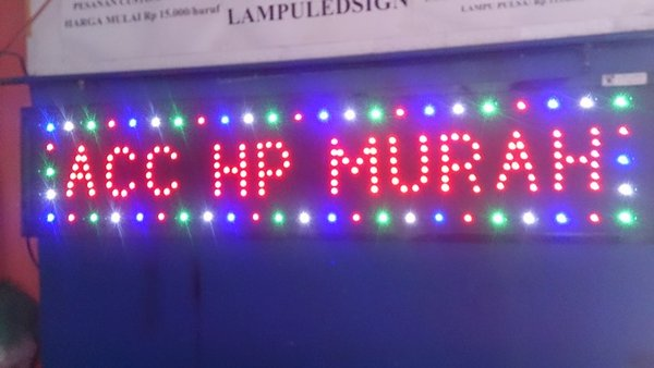 Tulisan Lampu Led Sign display Aksesoris Hp Murah - like running text