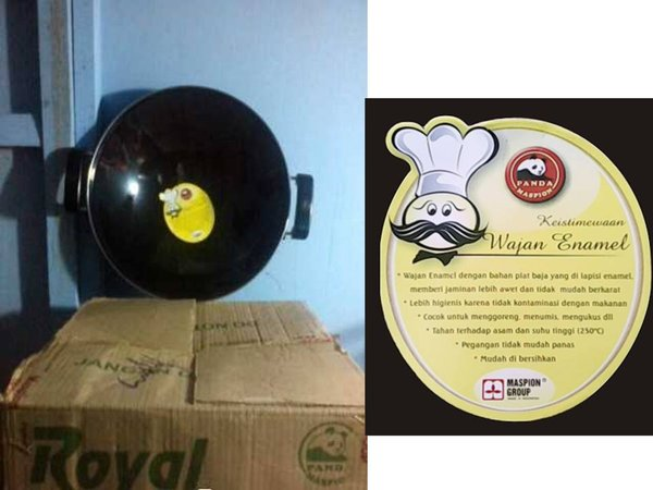 WAJAN ENAMEL ROYAL WOK MASPION 35CM