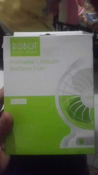 portable lithium battery fan ROBOT VIVAN RT-BF01 KIPAS ANGIN + POWER BANK MULTIFUNGSI COCOK UNTUK LAPTOP PLAYSTATION PS2 PS3 KANTOR MOBIL DLL