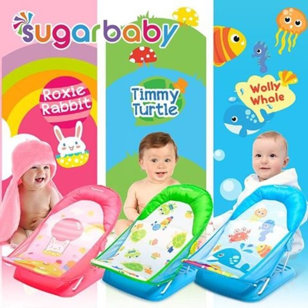 SUGARBABY SUGAR BABY BATHER DELUXE NEW MOTIF BAK DUDUK KURSI MANDI BAYI TURTLE RABBIT WHALE