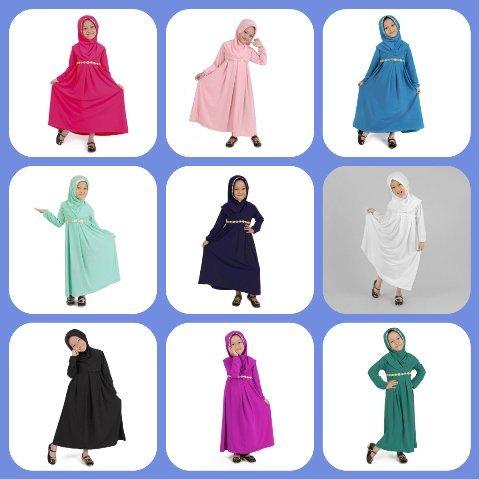 Baju Muslim Gamis Anak Perempuan Lucu Simple