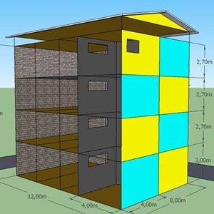 90 model desain rumah 6 x 8 terlihat keren