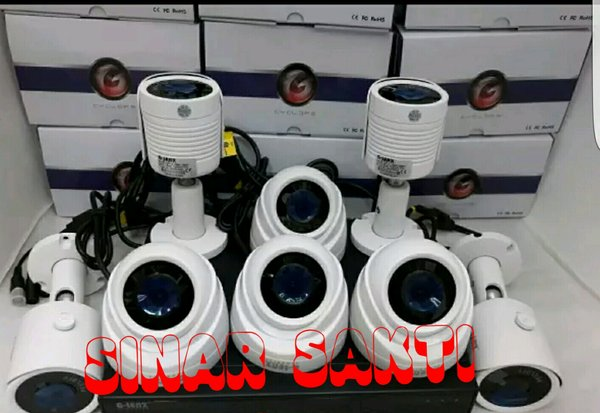 MURAH PAKET CCTV GLENZ 8 CAMERA 5MP 2560P REAL  KOMPLIT TINGGAL PASANG