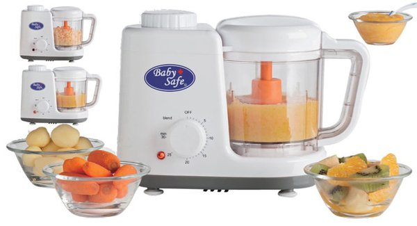 Baby Safe Food Machine Steam & Blend Blender Makanan Bayi