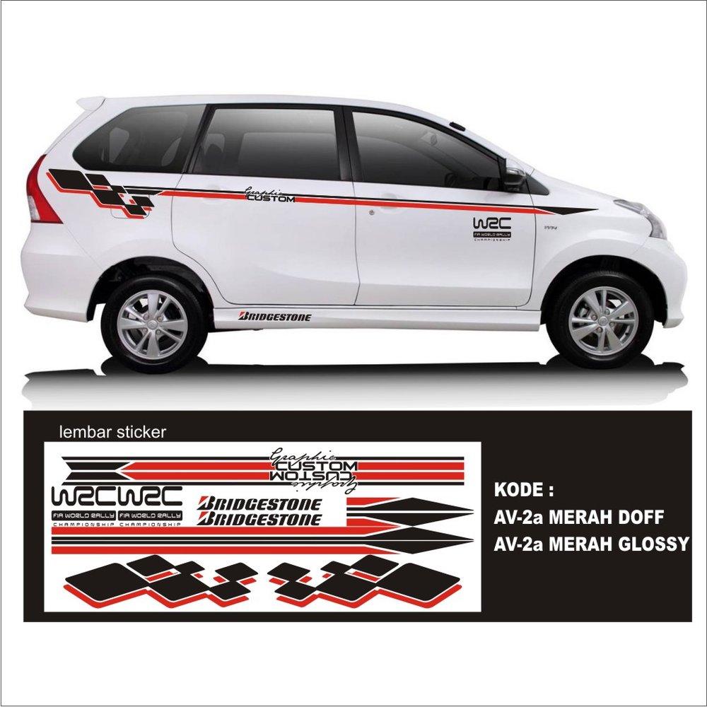 Gambar Cutting Sticker Mobil Avanza Putih  Duniaotto