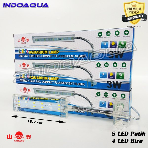 Lampu LED Aquarium Yamano 3 watt
