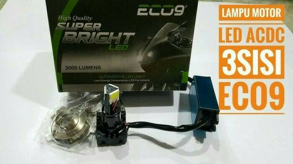 Lampu led motor H6 H4 Hs1 eco9 luminos - putih