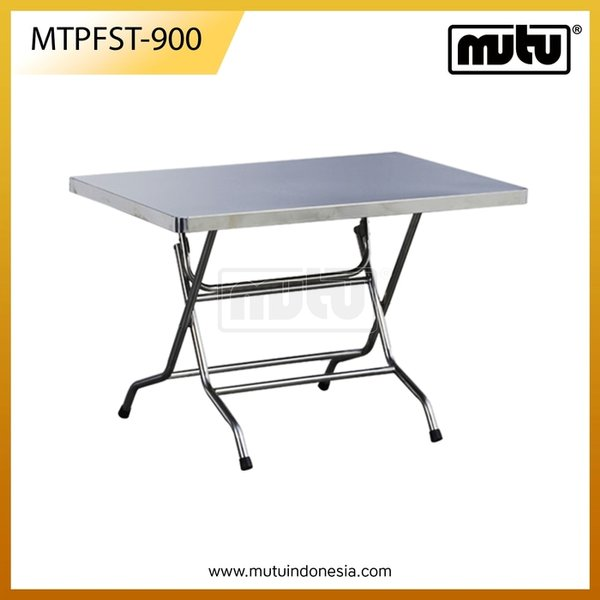 Square Table Meja Lipat Dapur Stainless Steel- FST-900