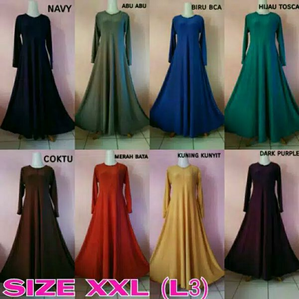 Gamis Jersey Polos Jumbo L3