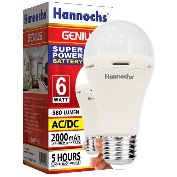 Lampu Emergency LED Hannochs Genius 6 Watt