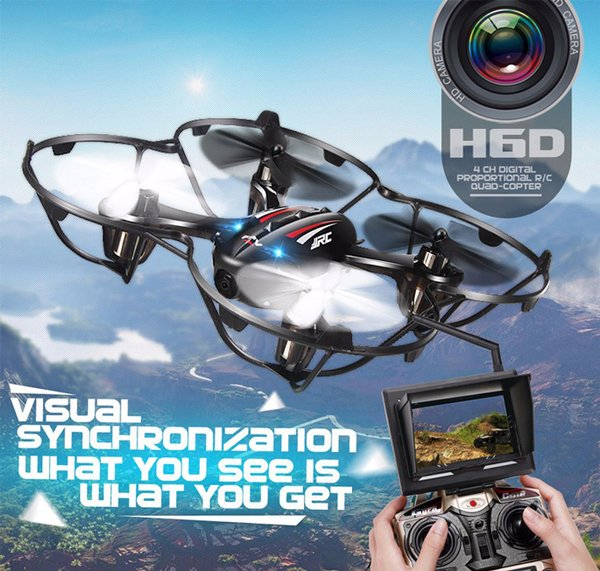 Drone Kamera 2MP WIFI  can be connected to Smartphone with LCD anti hilang