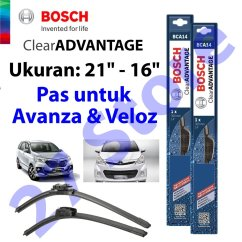 Ukuran Wiper Grand New Avanza Veloz Jual Toyota Bosch Clear Advantage 21 16 Inci 2 Pcs