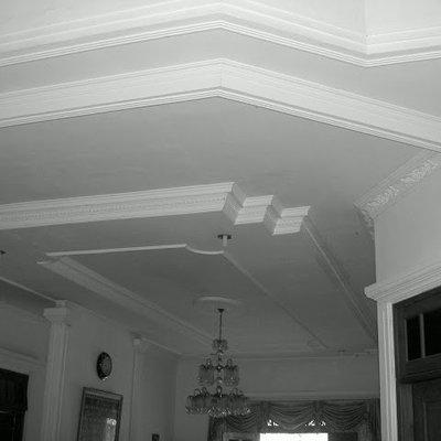 pasang plafon baja ringan partisi gypsum alumunium cat