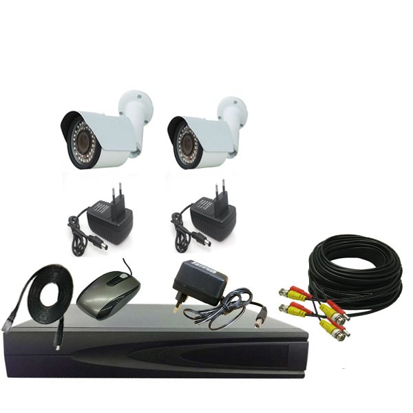 PROMO PAKET CCTV 2 CAMERA OUT 1.3MP - DVR 4CHANEL