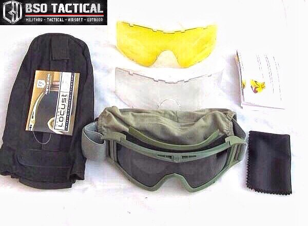 TERBARUU Goggle US Military Tactical Desert Locust Revision 3 Colour & 3 Lenses BIG SALE