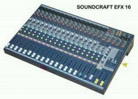 audio mixer soundcraft EFX16