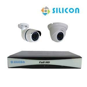 PAKET CCTV SILICON AHD 4CH 2 CAMERA RS-233302A