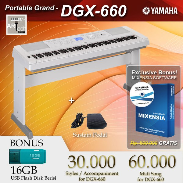 Yamaha DGX 660 . DGX-660 . DGX660 . DGX660B Black . DGX660W White - Digital Piano