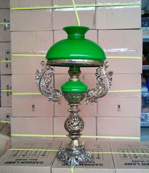 Grosir - lampu meja R 28 klasik antik warna hijau