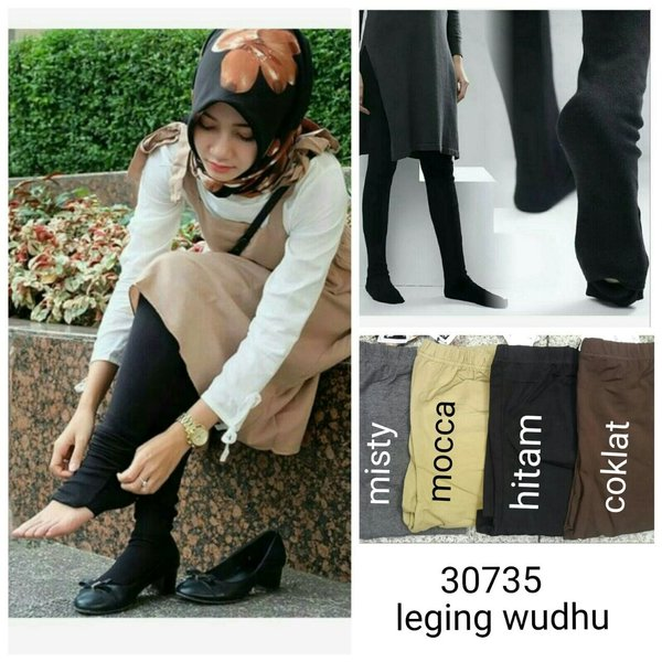 LEGGING WUDHU  LEGGING SPANDEX JUS D ORANGE  LEGGING TEBAL  HIJAB