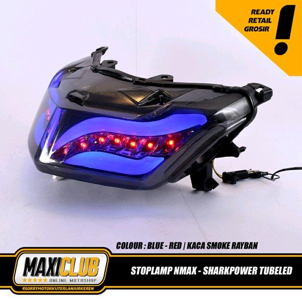 variasi NMAX lampu belakang lampu stop stoplamp LED SHARKPOWER nmax 2018 mika smoke aksesoris nmax
