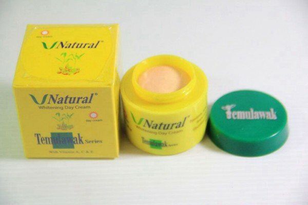 Krim siang V Natural temulawak Whitening Day Cream Original