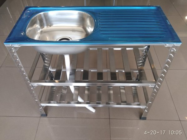 Bak Cuci Piring   Kitchen Sink Kaki Meja Rak Portable Welden 91PK2