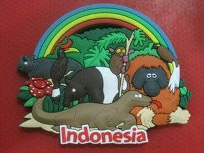 Magnet kulkas Indonesian animal souvenir negara Indonesia