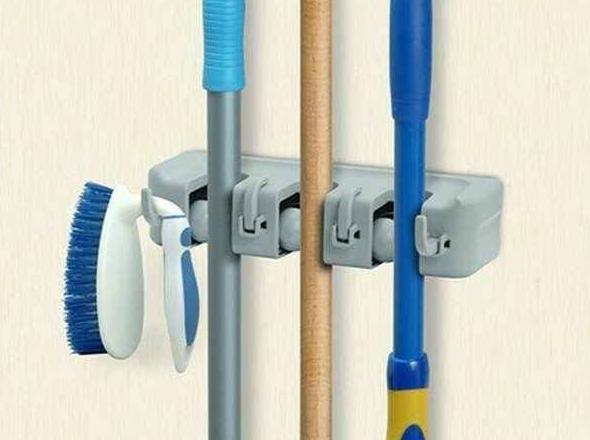 Baru Magic Broom And Mop Holder .U002F Gantungan Sapu Dan Kain Pel - Isi 3