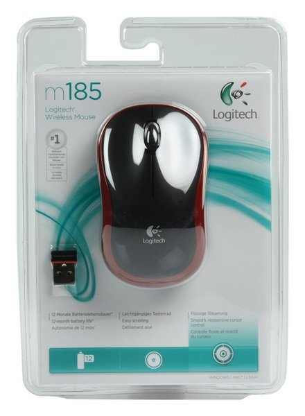 MOUSE WIRELESS LOGITECH M 185