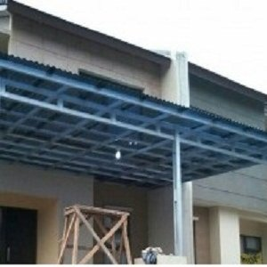 harga ongkos pasang baja ringan jual kanopi + atap solartuff (model minimalis ...