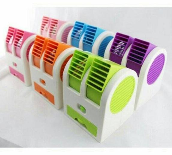 Best Seller Ac Mini . Kipas Angin Mini Duduk Portable Fan Elektrik