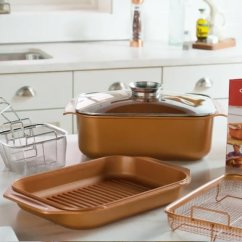 Qvc.com Shopping Kitchen Floor Designs Copper Chef 7 Piece 14 In 1 Wonder Cooker Cooking System Page What S Included