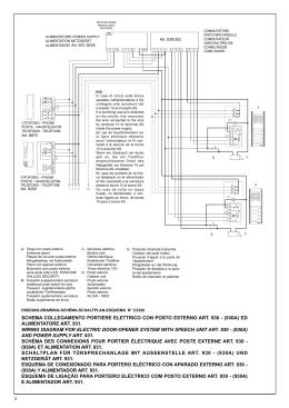 schema collegamento portiere elettrico con posto esterno
