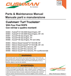 parts maintenance manual manuale parti e manutenzione on tractor starter wiring diagram  [ 791 x 1024 Pixel ]