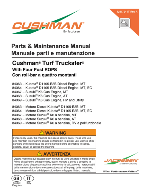 small resolution of  parts maintenance manual manuale parti e manutenzione on tractor starter wiring diagram